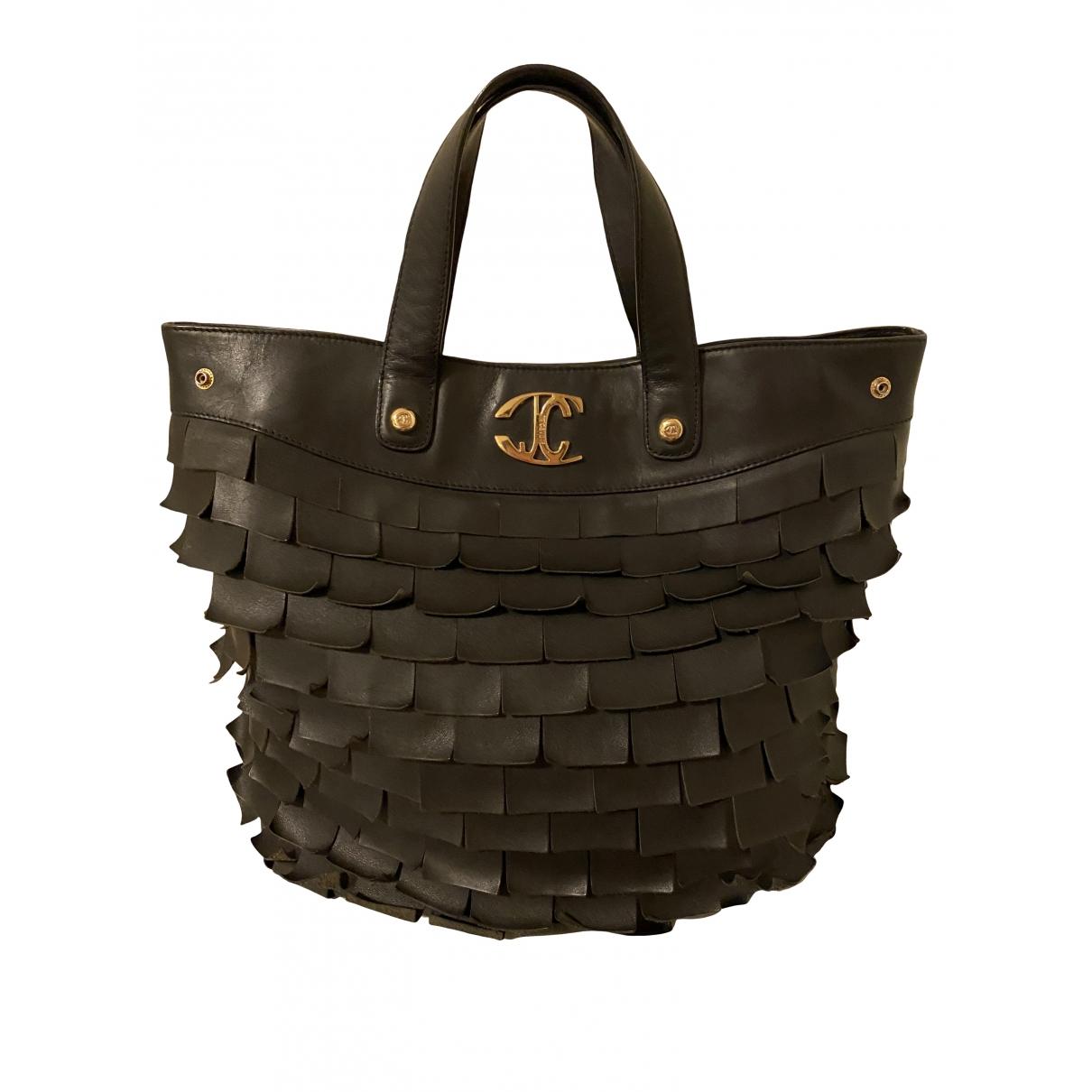 Just Cavalli \N Handtasche in  Schwarz Leder