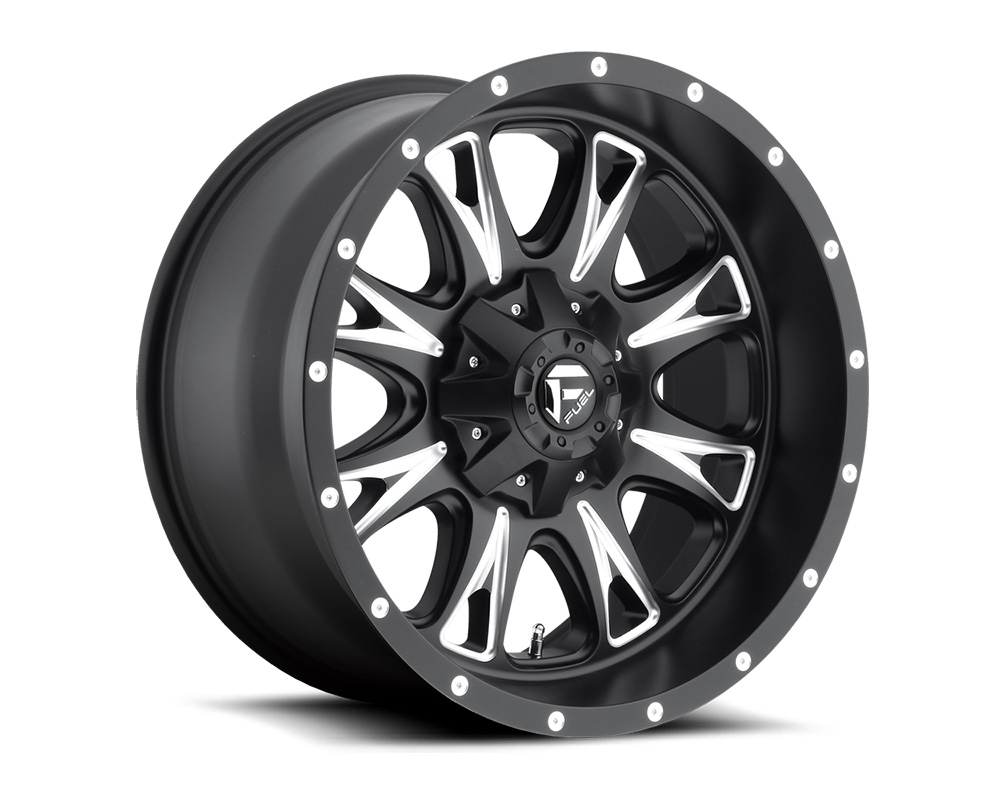 Fuel D513 Throttle Matte Black Milled 1-Piece Cast Wheel 20x9 5x114.3|5x127 01mm