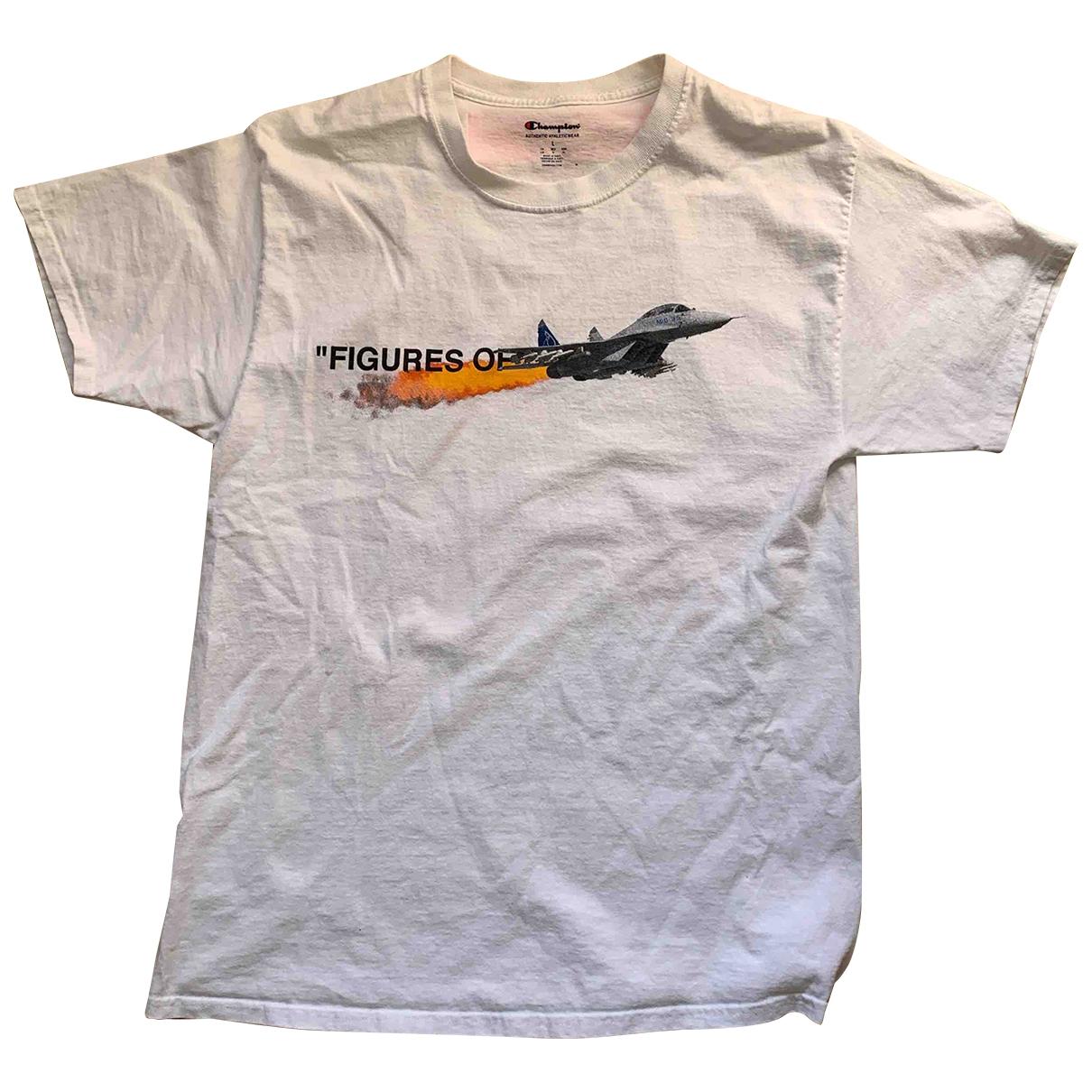Champion - Tee shirts   pour homme en coton - blanc