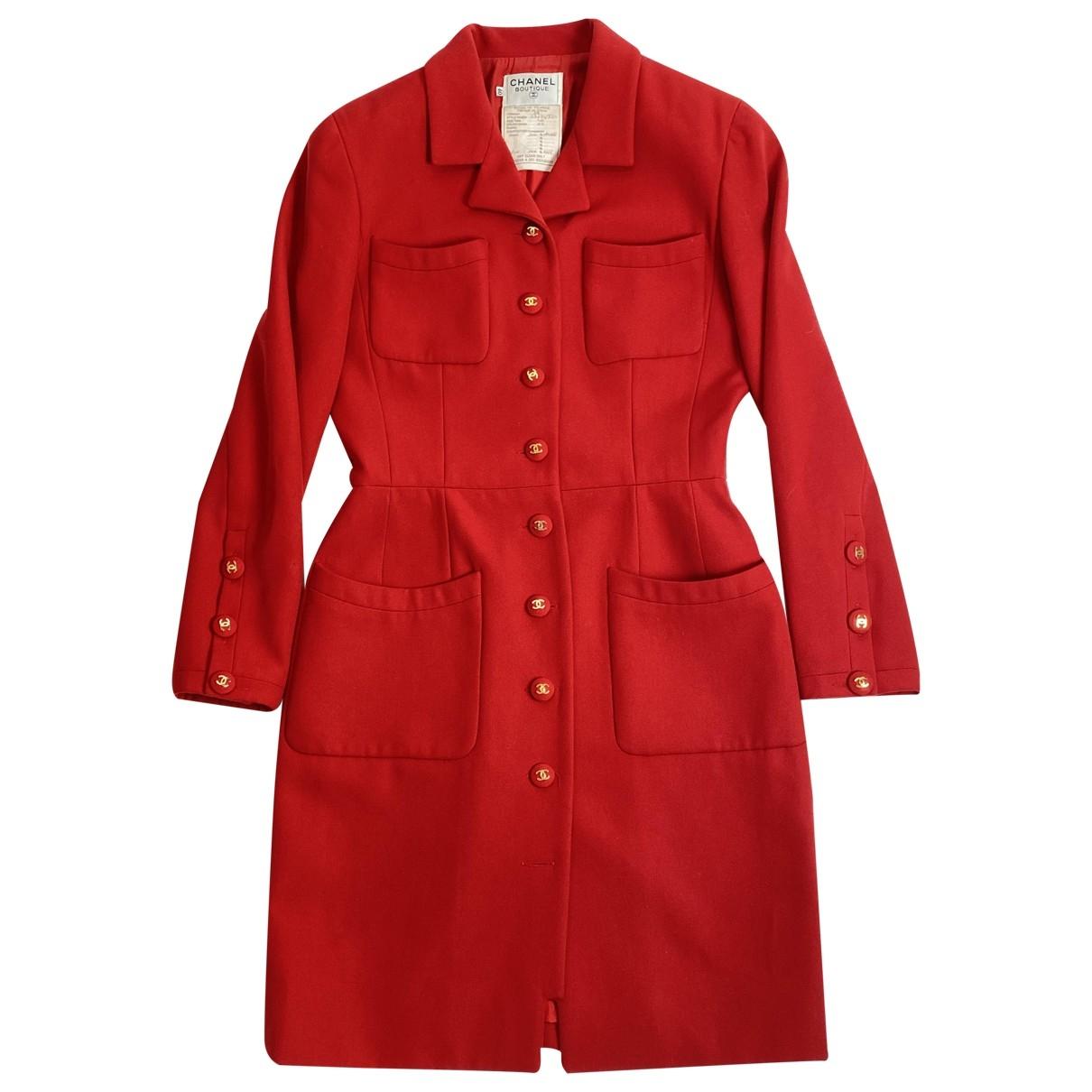 Chanel \N Red Wool coat for Women 40 FR