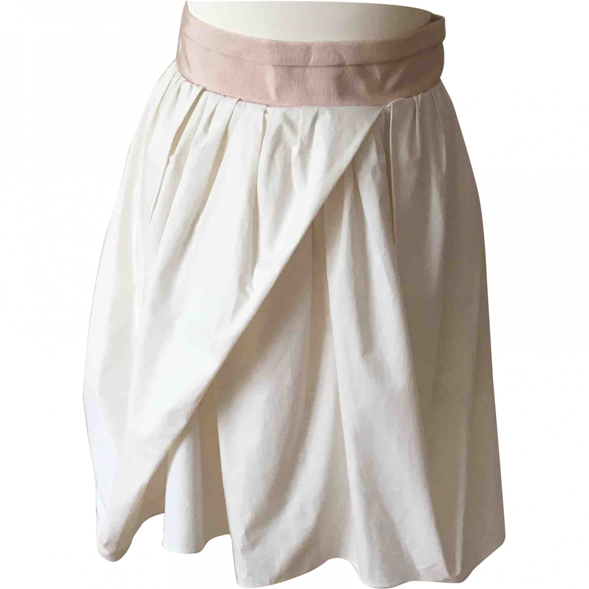 Carven \N Ecru Cotton skirt for Women 38 FR