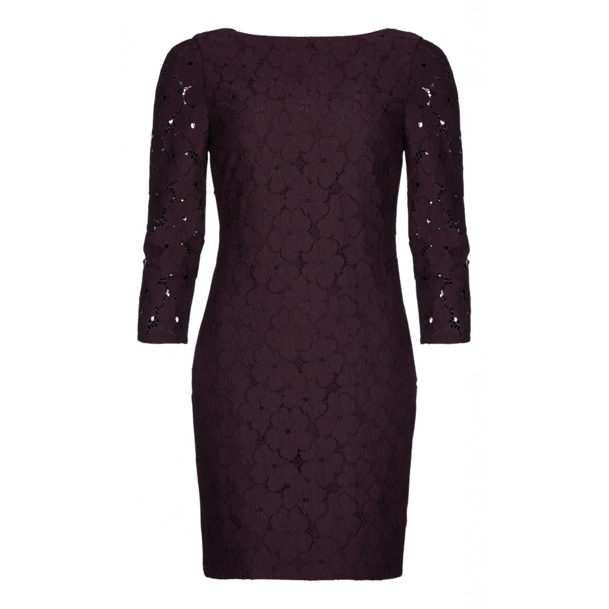 Diane Von Furstenberg \N Kleid in  Rot Baumwolle