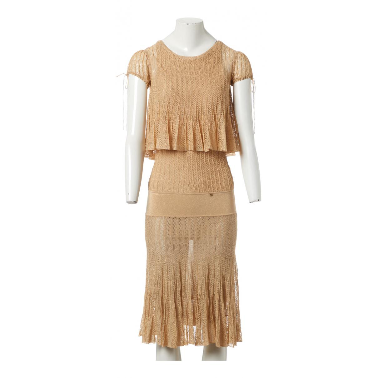Chanel \N Kleid in  Gold Viskose