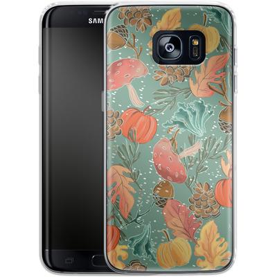 Samsung Galaxy S7 Edge Silikon Handyhuelle - Fall Woodland Green von Mukta Lata Barua