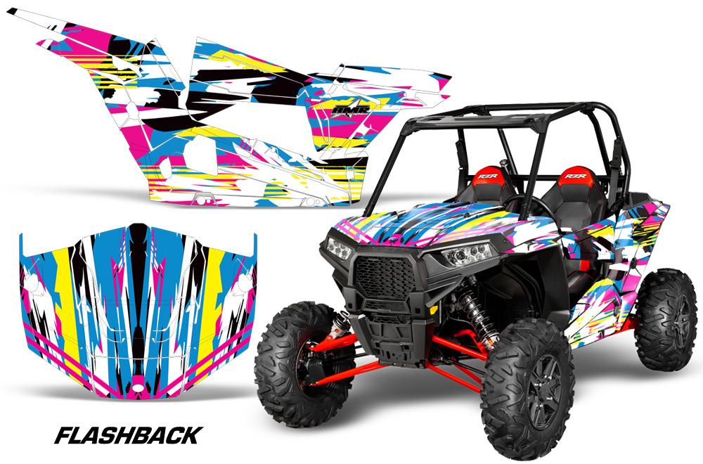 AMR Racing  Full Custom UTV Graphics Decal Kit Wrap Flashback Polaris RZR 1000 13-18
