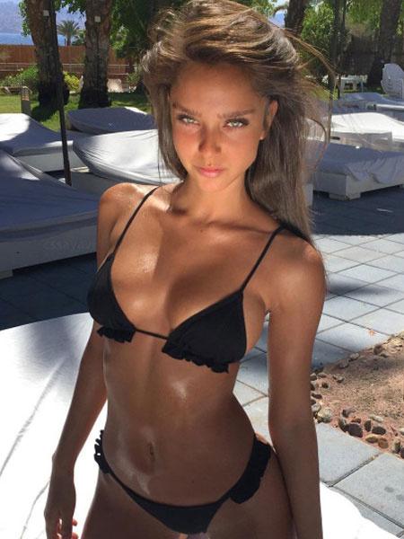 Milanoo Sexy Bikini Swimwear Straps Ruffles Solid Color Triangle Bikini Swimsuit