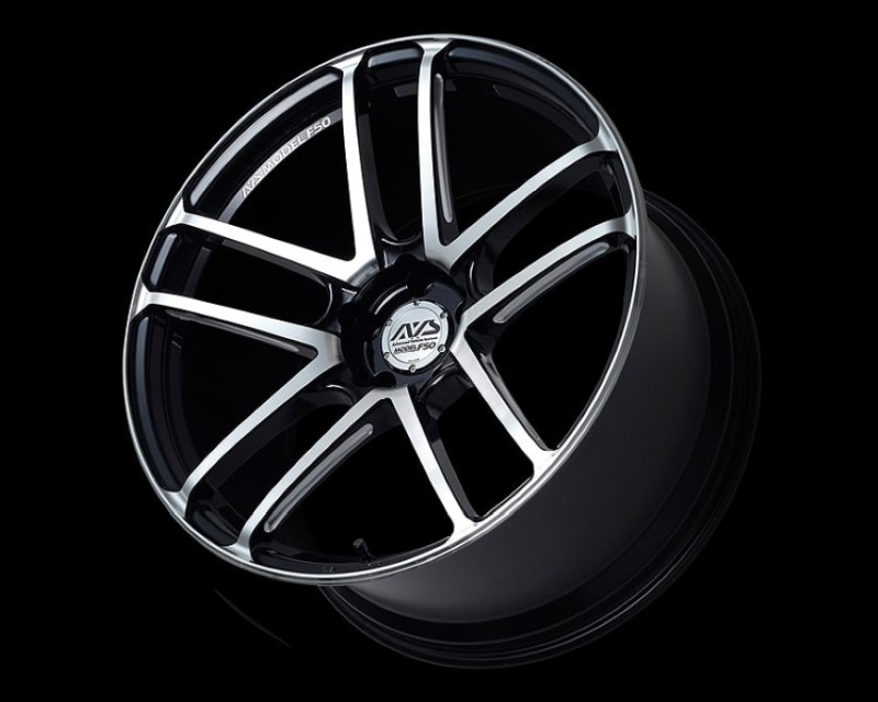 AVS Model F50 Wheel 20x12 5x114.3 20mm Gloss Black Combi