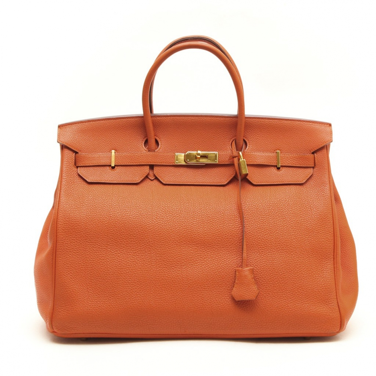 Hermès Birkin 40 Orange Leather handbag for Women \N