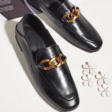 Chain Decor Minimalist Loafers