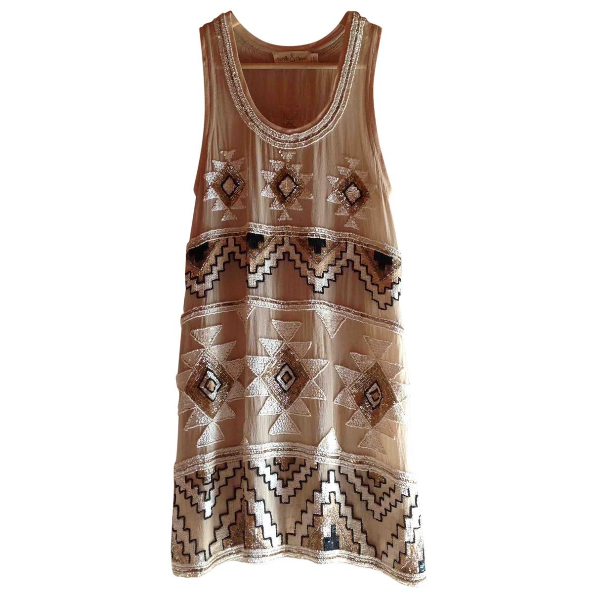 Needle & Thread - Robe   pour femme en a paillettes - dore
