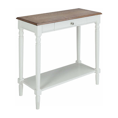 1-Drawer Console Table, One Size , White