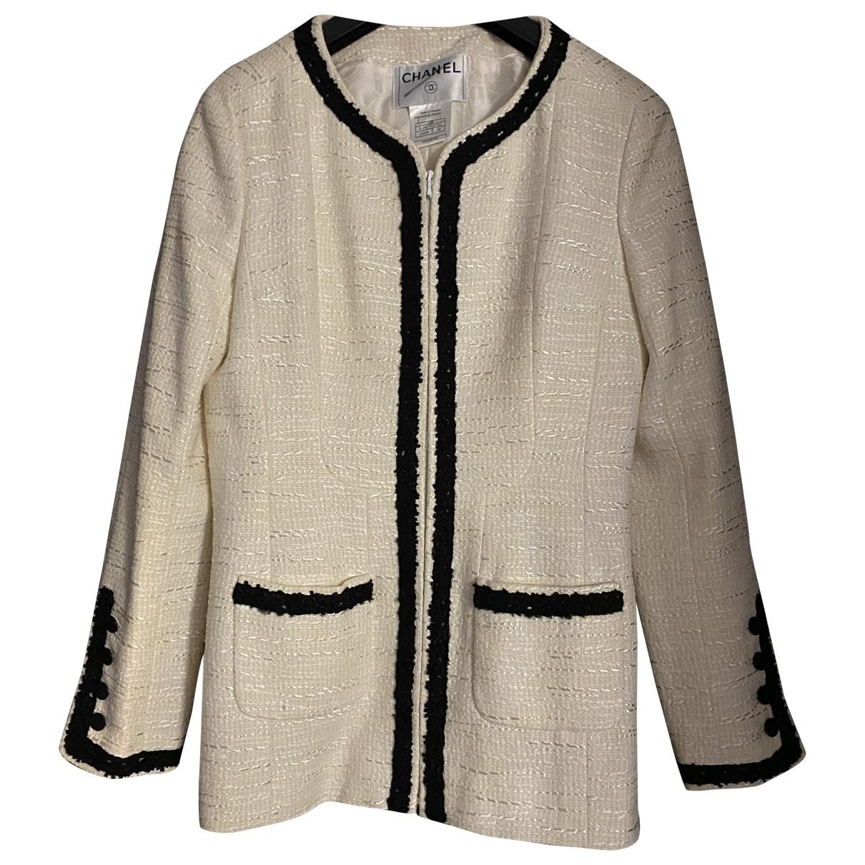 Chanel \N White Wool jacket for Women 38 FR