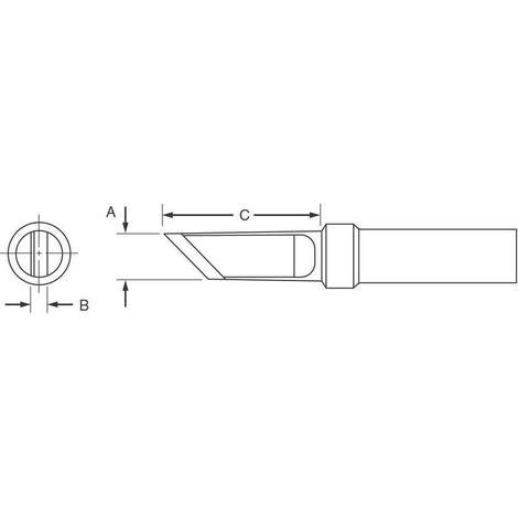 Weller Long Screwdriver Tip, 3/64# Hand Tools