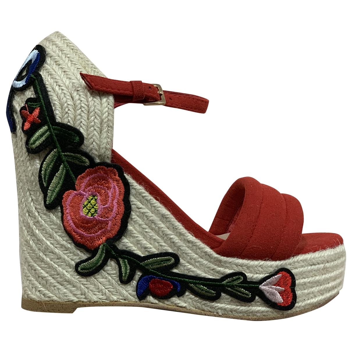 Gucci - Espadrilles   pour femme en suede - rouge