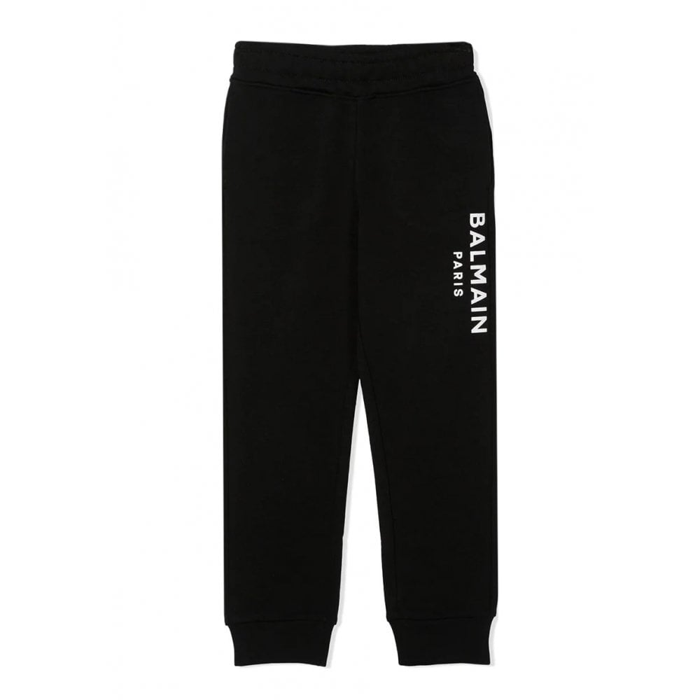 Balmain Logo Joggers Colour: BLACK, Size: 12 YEARS