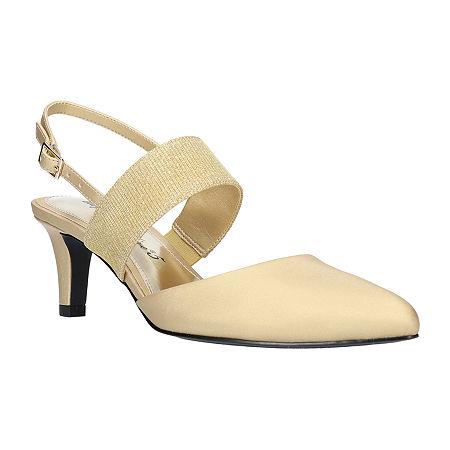 Easy Street Womens Gisella Pumps Spike Heel, 8 Medium, Yellow