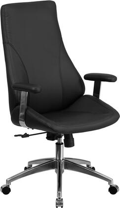 BT-90068H-GG High Back Black Leather Executive Swivel Office
