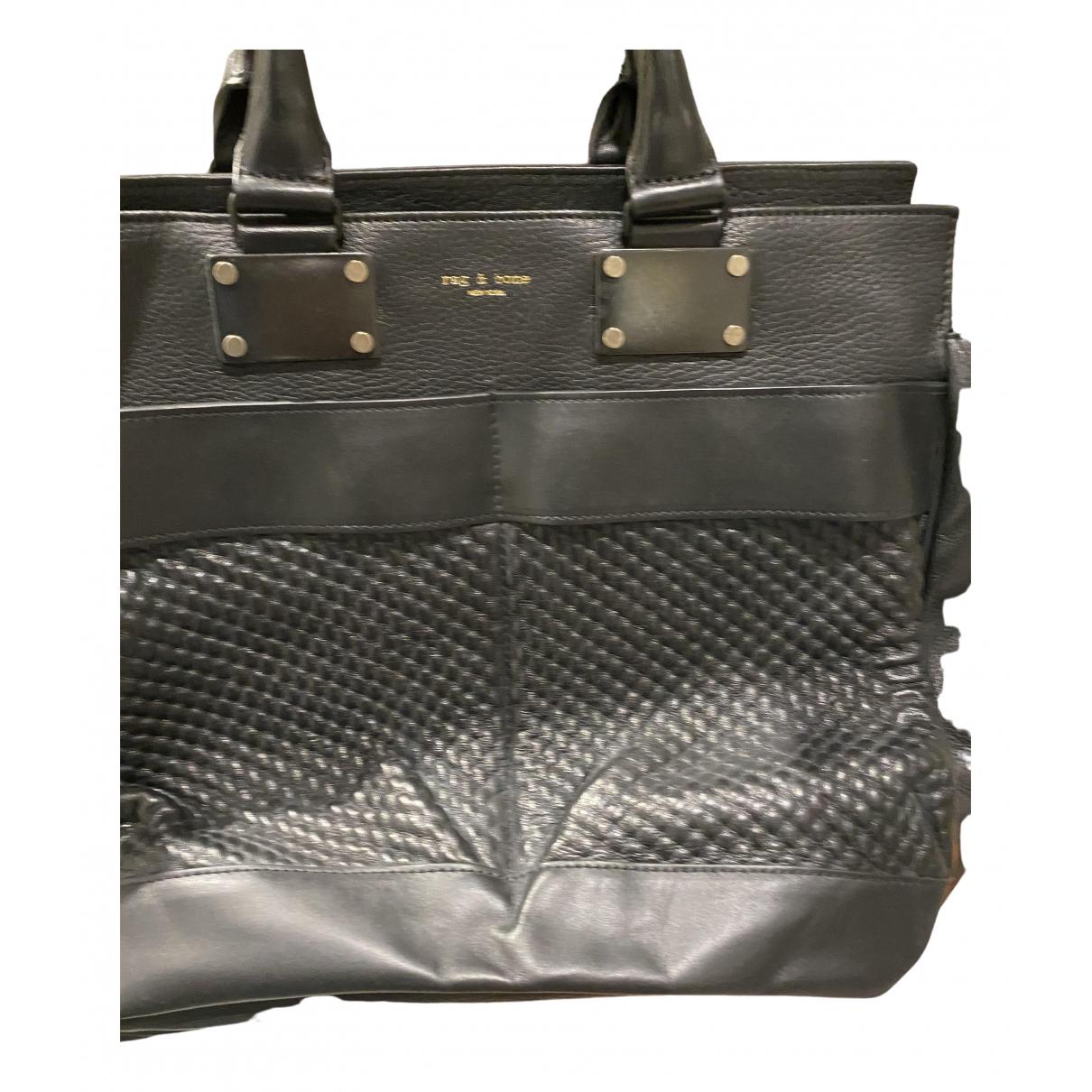 Rag & Bone \N Handtasche in  Schwarz Leder