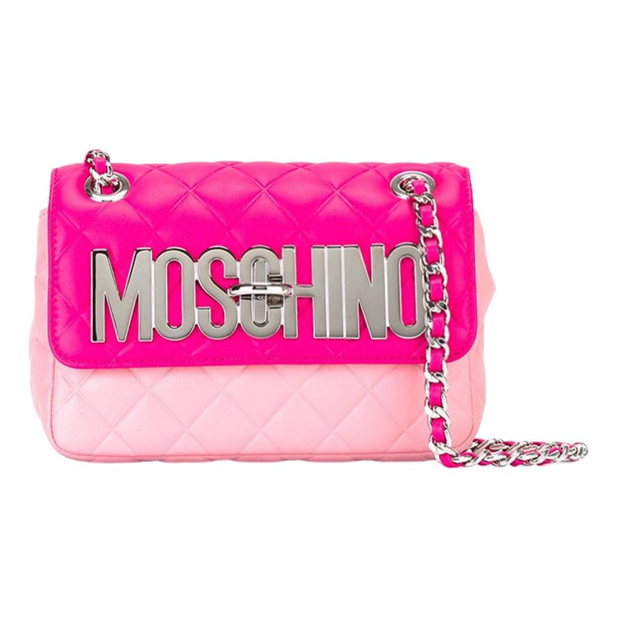 Moschino - Sac a main   pour femme en toile - rose
