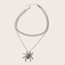 1pc Spider Charm geschichteten Halskette