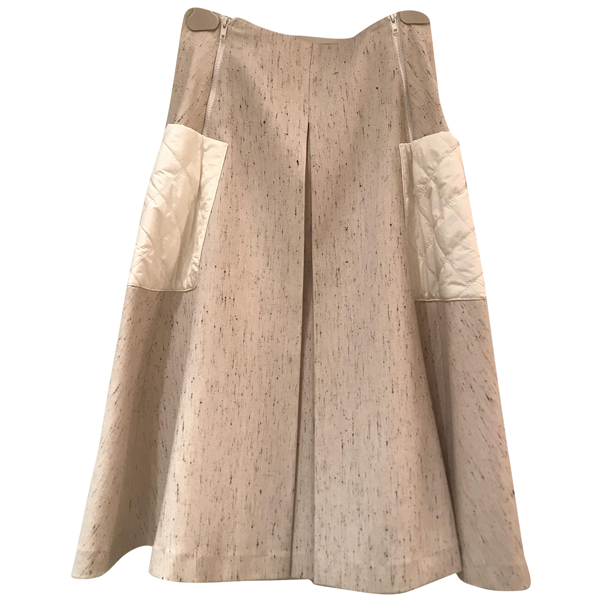 Autre Marque N Beige Wool skirt for Women 42 IT