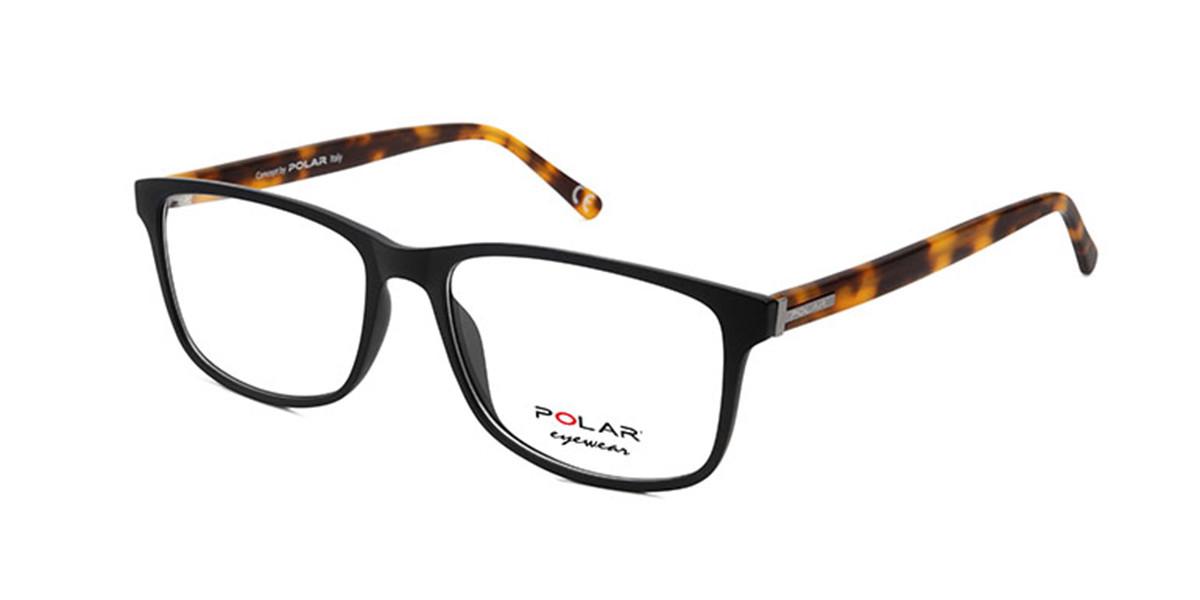 Polar PL 1950 480 Men's Glasses Black Size 55 - Free Lenses - HSA/FSA Insurance - Blue Light Block Available