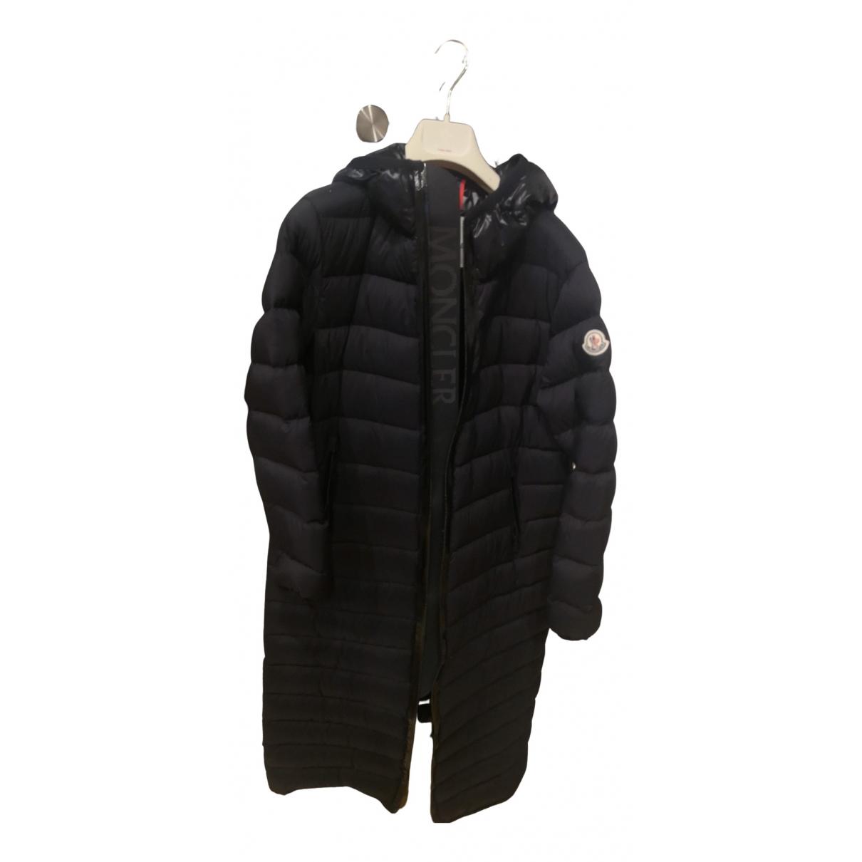 Moncler Long Black coat for Women 42 FR