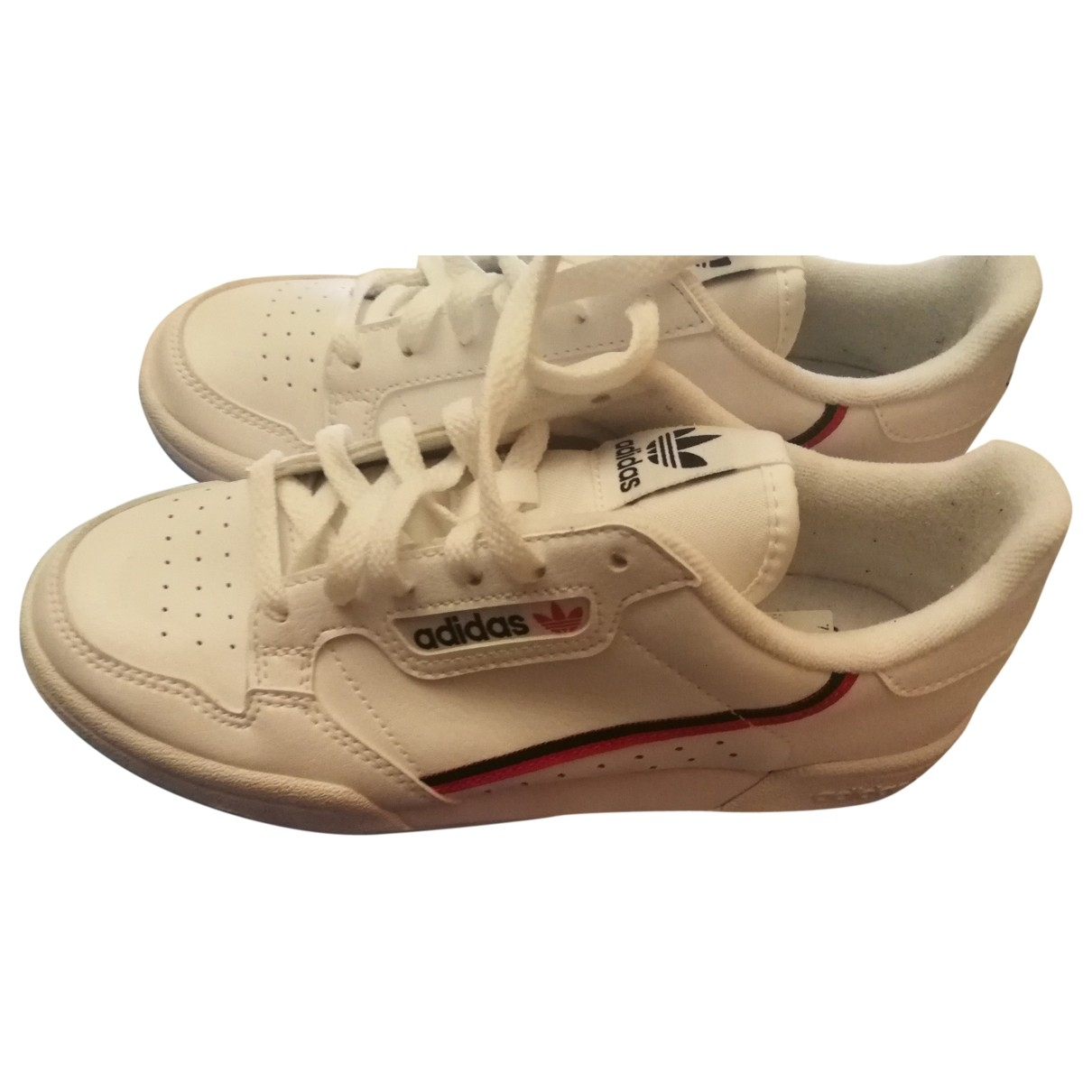 Adidas Continental 80 White Leather Trainers for Women 35.5 EU
