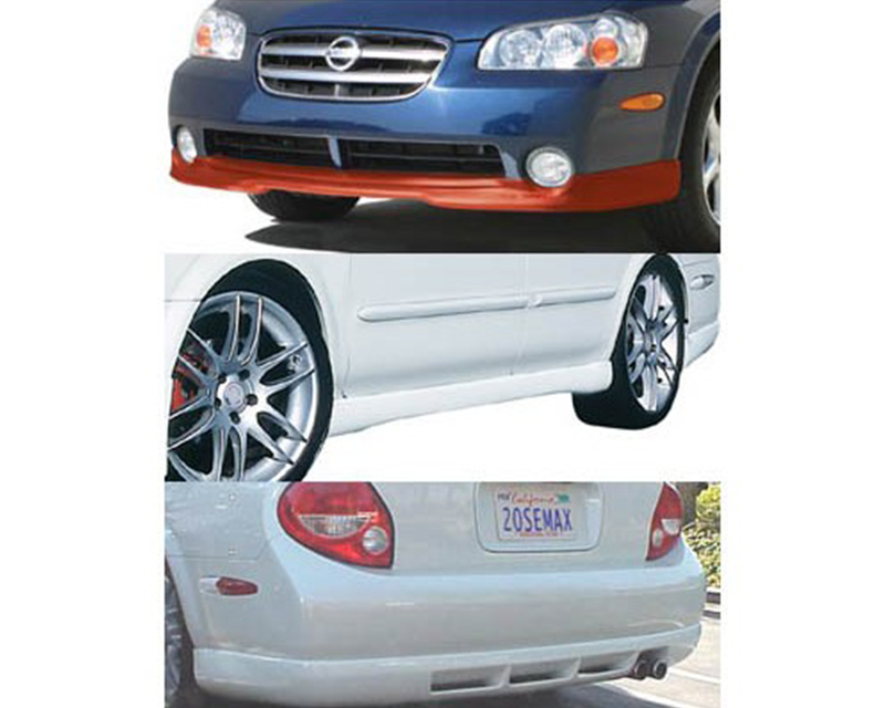 STILLEN 4-Piece Body Kit with Classic Style Front Lip Spoiler Nissan Maxima 02-03