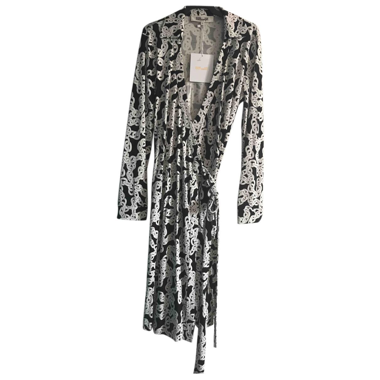 Diane Von Furstenberg - Robe   pour femme en soie - blanc