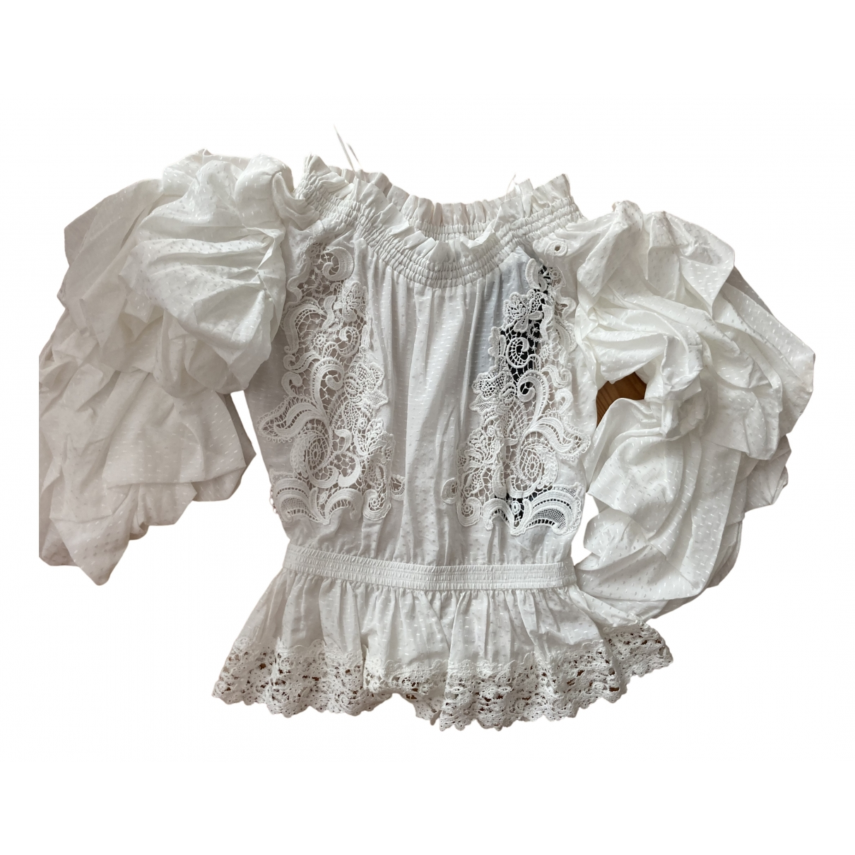 The Kooples \N White Cotton  top for Women 1 0-5