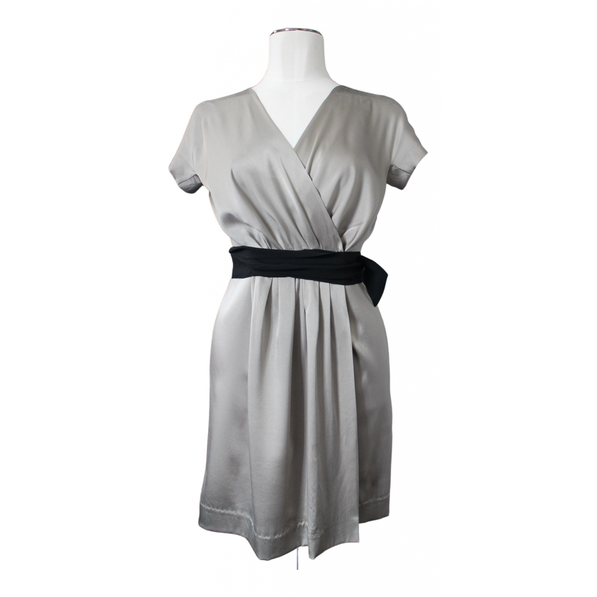 Max Mara \N Kleid in  Beige Seide