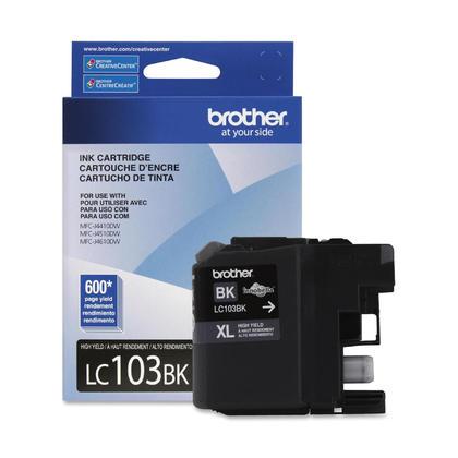 Brother LC103BK - LC103 authentique noire cartouche encre, haut rendement