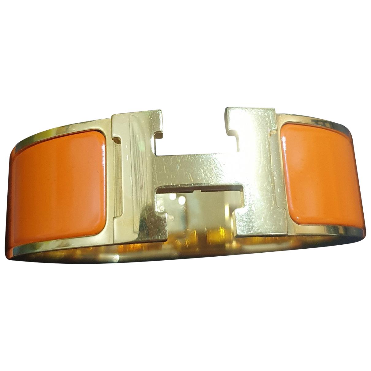Hermes - Bracelet Clic H pour femme en metal - orange