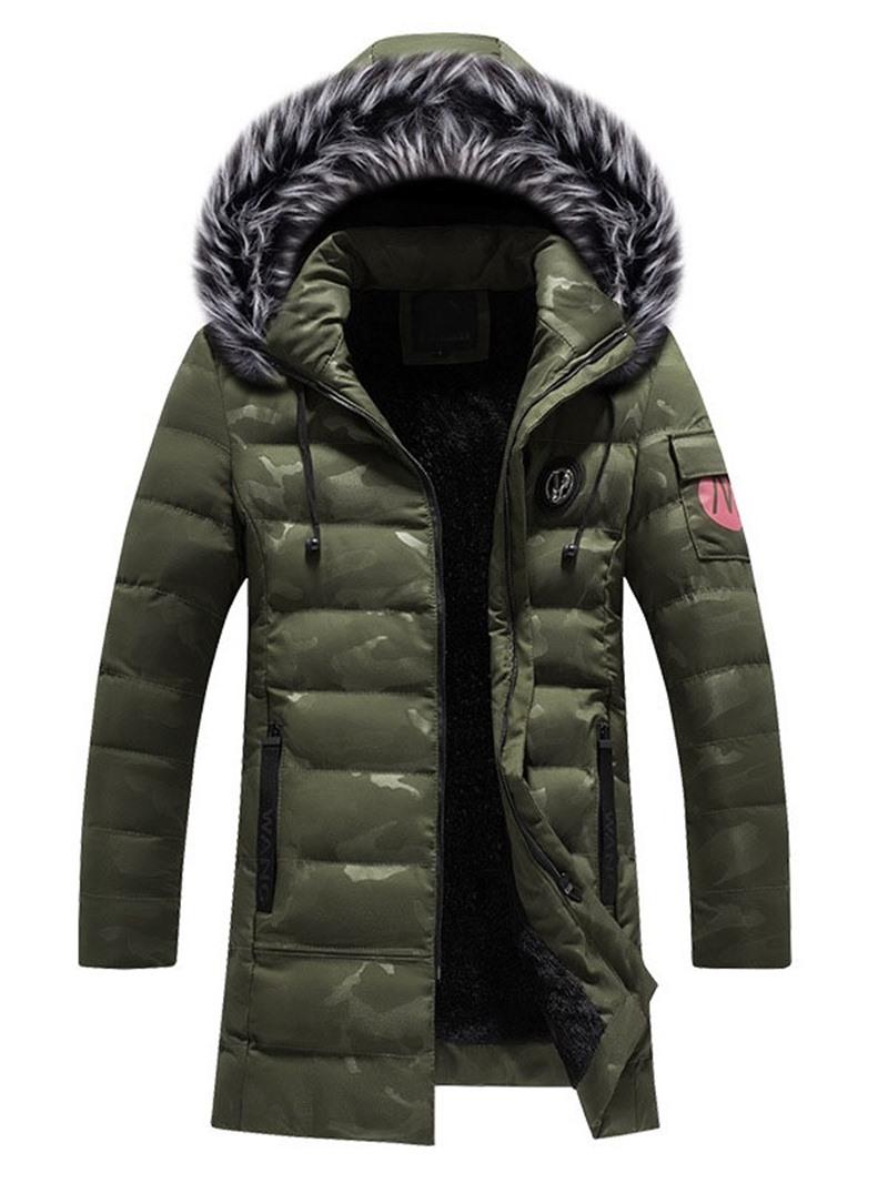 Ericdress Color Block Hooded European Zipper Men's Down Jacket