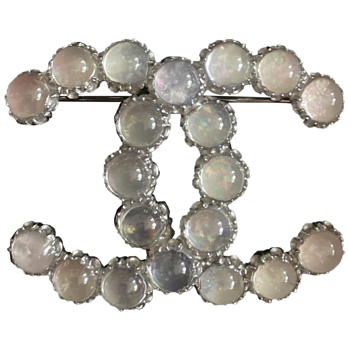 Chanel - Broche CHANEL pour femme en argent - gris