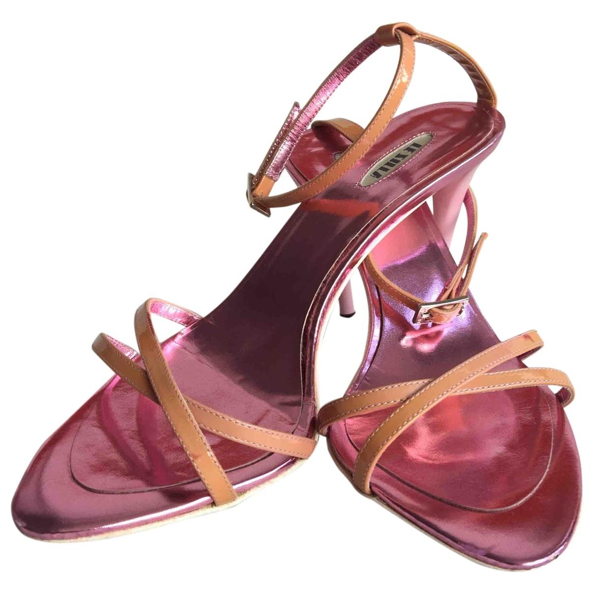 Le Silla - Sandales   pour femme en cuir - rose