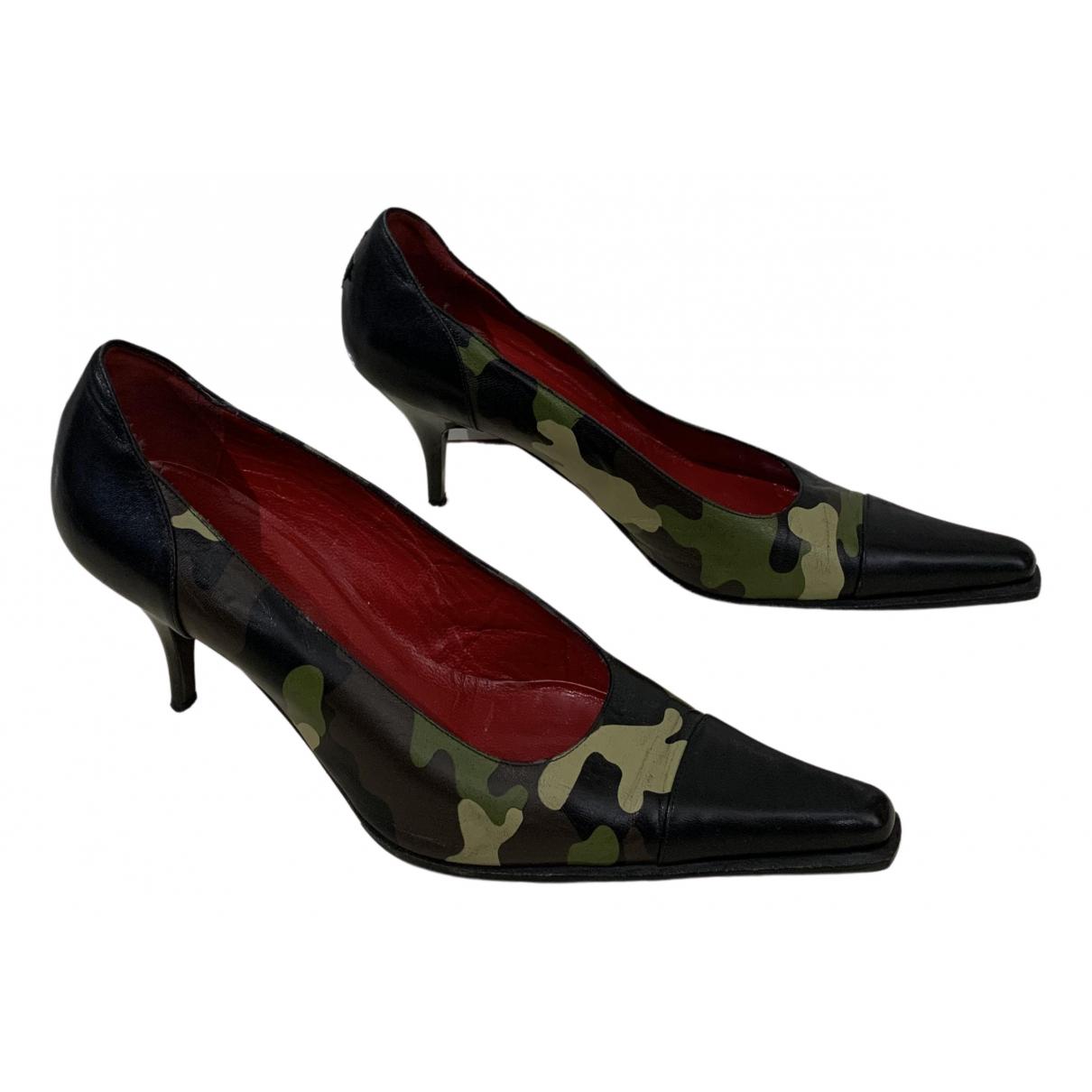 Jc De Castelbajac N Black Leather Heels for Women 38 EU