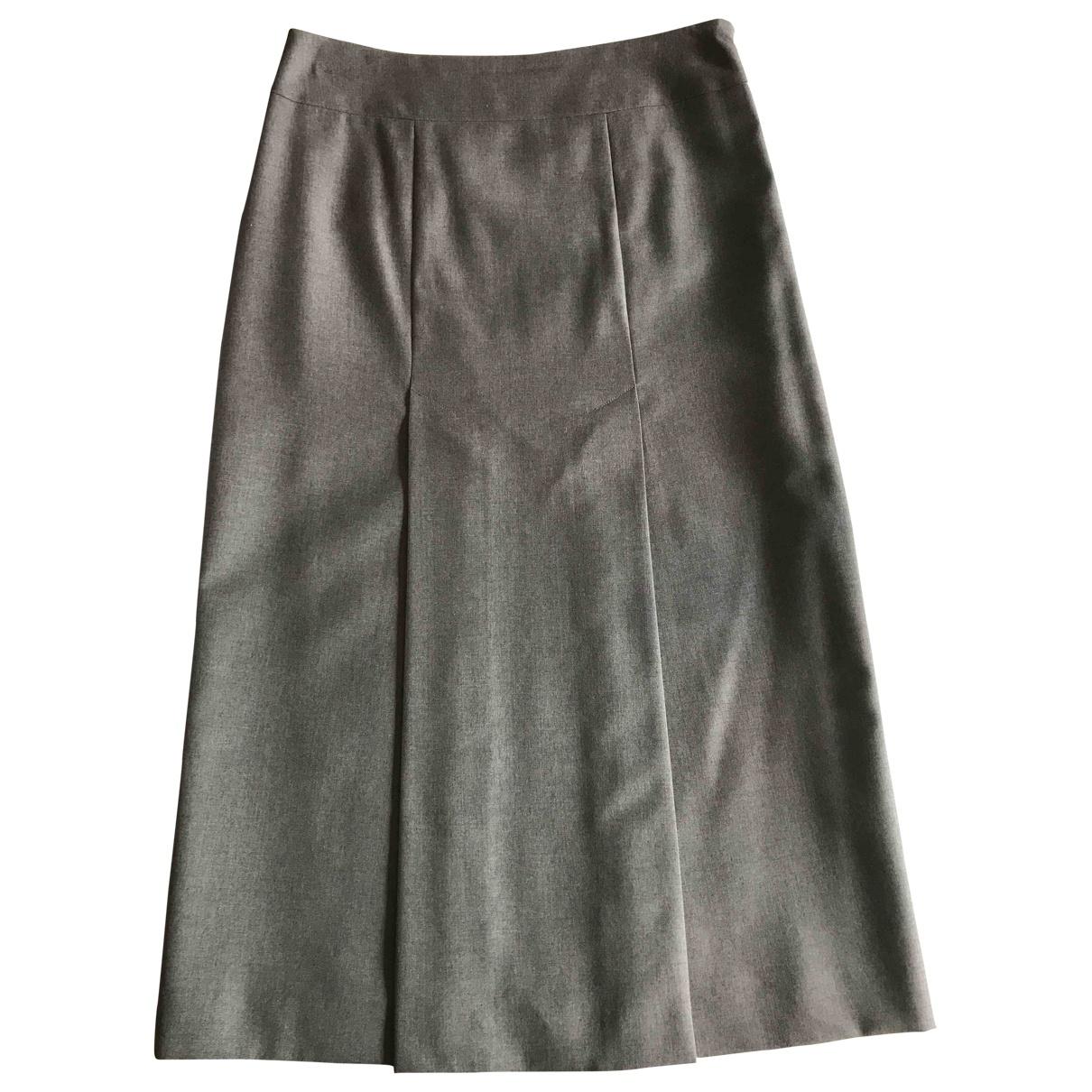 Alexander Mcqueen - Jupe   pour femme en laine - gris