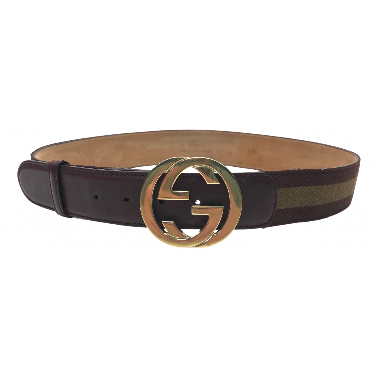 Cinturon Interlocking Buckle de Lona Gucci