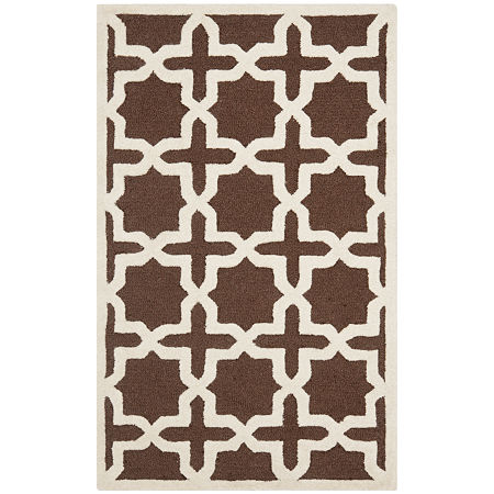 Safavieh Trevelyan Geometric Hand Tufted Wool Rug, One Size , Brown