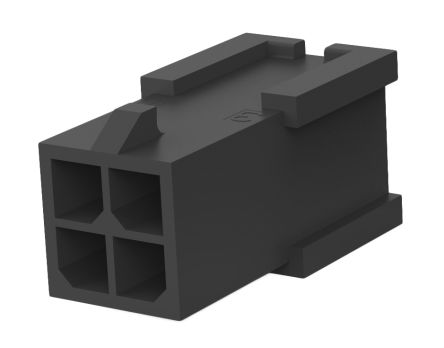 TE Connectivity , Micro MATE-N-LOK Male Connector Housing, 3mm Pitch, 4 Way, 2 Row (5)