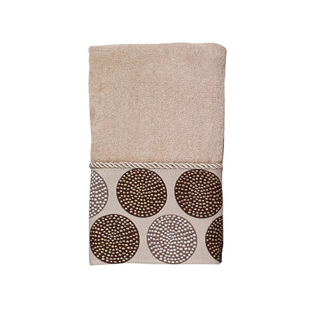 Avanti Dotted Circle Embellished Bath Towel Collection, One Size , Beige