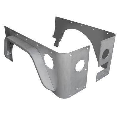 Poison Spyder Standard Crusher Corners with 3 Inch DeFender Flare (Bare Steel) - 14-04-073