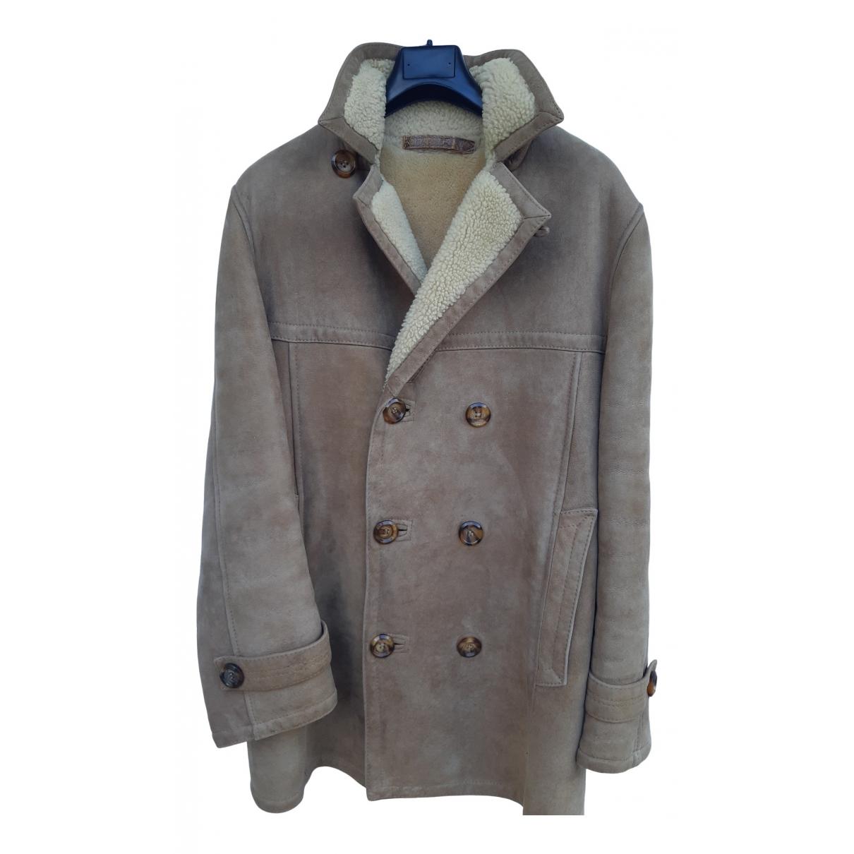 Shearling - Manteau   pour homme en mouton - beige