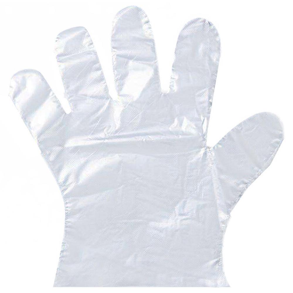 200PCS Disposable Protective Gloves Transparent