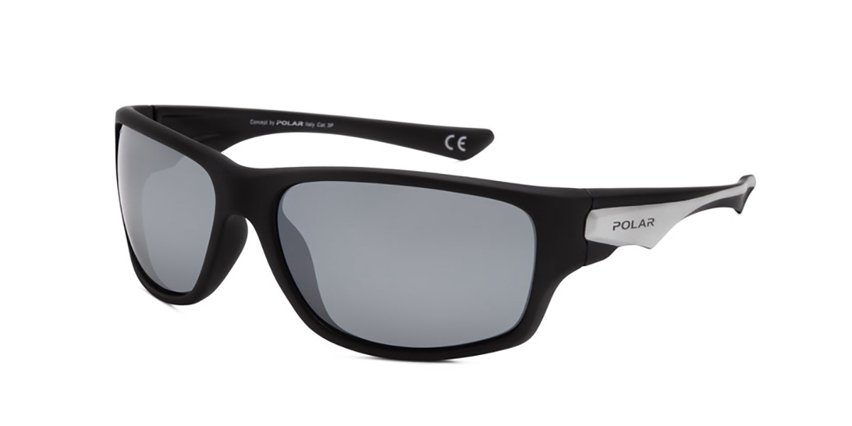 Polar PL 3003 Polarized 76/b Men's Sunglasses Black Size 64