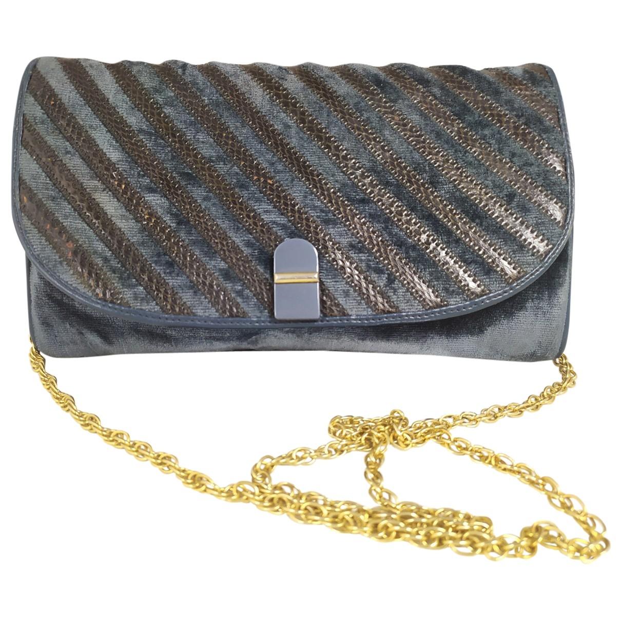Non Signé / Unsigned \N Blue Velvet Clutch bag for Women \N