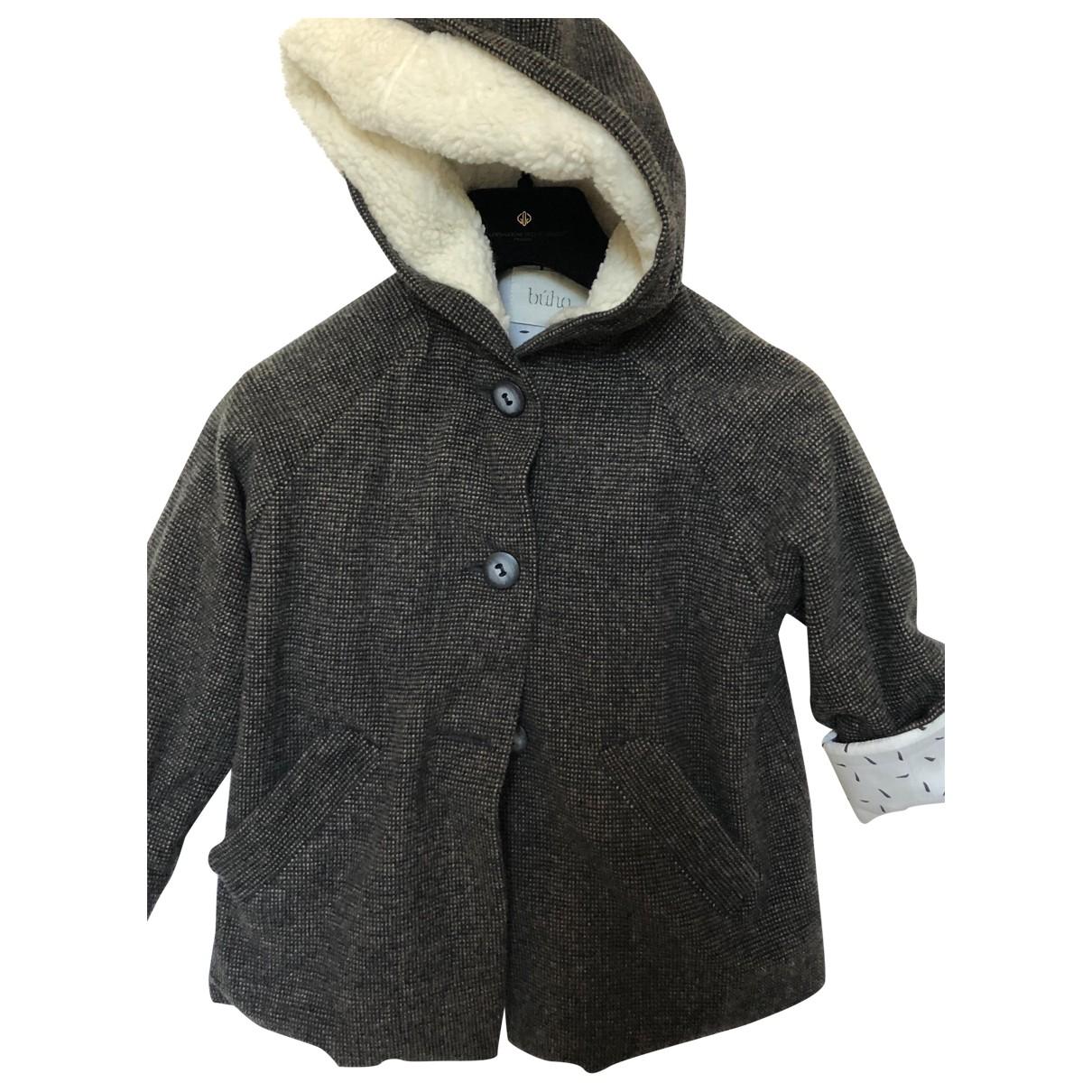 - Blousons.Manteaux   pour enfant en laine - multicolore
