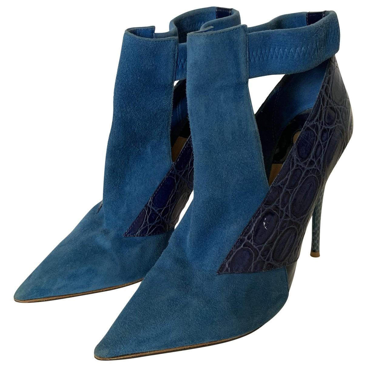 Chloe - Boots   pour femme en suede - bleu